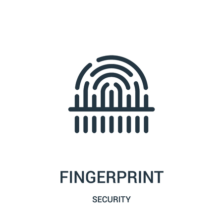 fingerprint icon vector from security collection. Thin line fingerprint outline icon vector illustration. Linear symbol for use on web and mobile apps, logo, print media.