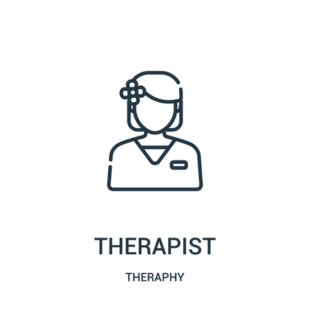 therapist icon vector from theraphy collection. Thin line therapist outline icon vector illustration. Linear symbol for use on web and mobile apps, logo, print media.