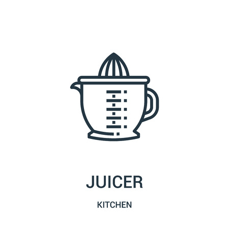 juicer icon vector from kitchen collection. Thin line juicer outline icon vector illustration. Linear symbol for use on web and mobile apps, logo, print media.