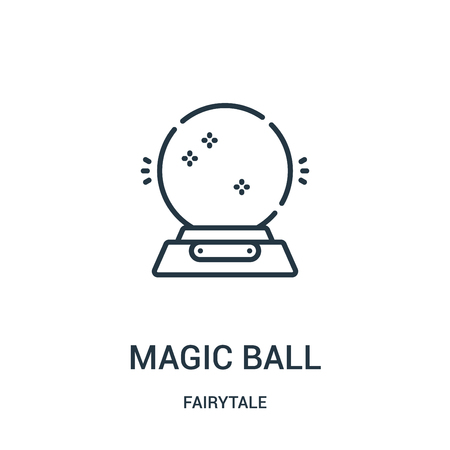magic ball icon vector from fairytale collection. Thin line magic ball outline icon vector illustration. Linear symbol for use on web and mobile apps, logo, print media. Illustration