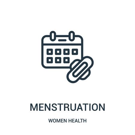Menstruationssymbolvektor aus der Frauengesundheitssammlung. Dünne Linie Menstruation Umriss Symbol Vektor-Illustration. Lineares Symbol für die Verwendung in Web- und mobilen Apps, Logo, Printmedien. Logo