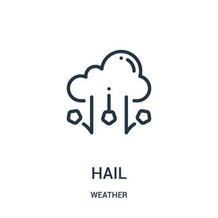 hail icon vector from weather collection. Thin line hail outline icon vector illustration. Linear symbol for use on web and mobile apps, logo, print media. Ilustração