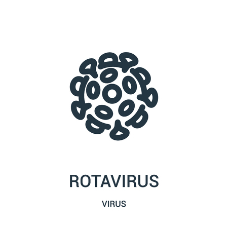 rotavirus icon vector from virus collection. Thin line rotavirus outline icon vector illustration. Linear symbol for use on web and mobile apps, logo, print media. Illustration