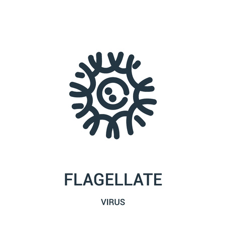 flagellate icon vector from virus collection. Thin line flagellate outline icon vector illustration. Linear symbol for use on web and mobile apps, logo, print media. Illustration