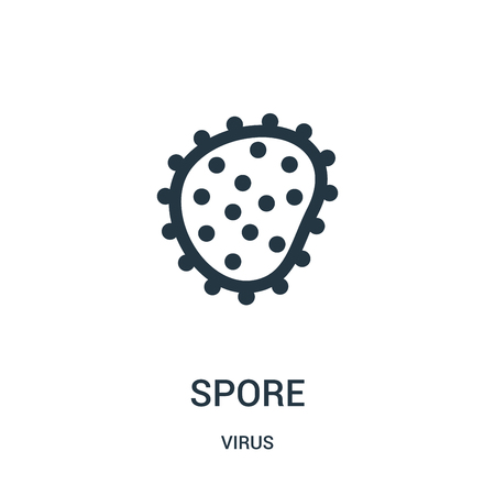 spore icon vector from virus collection. Thin line spore outline icon vector illustration. Linear symbol for use on web and mobile apps, logo, print media. Çizim