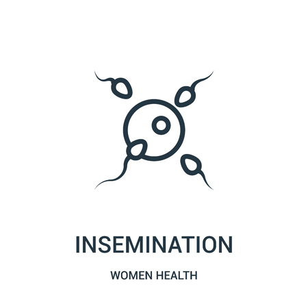 insemination icon vector from women health collection. Thin line insemination outline icon vector illustration. Linear symbol for use on web and mobile apps, logo, print media.