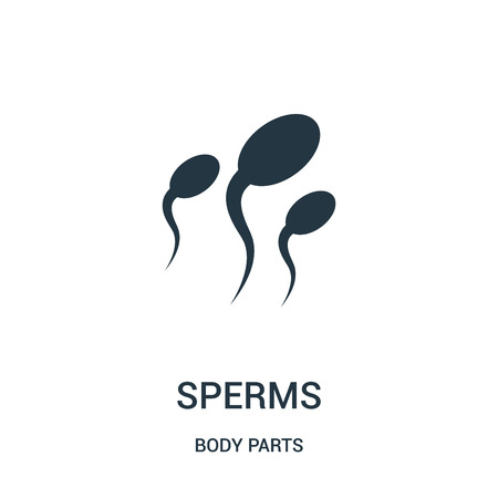 sperms icon vector from body parts collection. Thin line sperms outline icon vector illustration. Linear symbol for use on web and mobile apps, logo, print media.