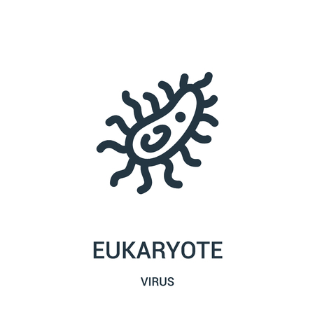 eukaryote icon vector from virus collection. Thin line eukaryote outline icon vector illustration. Linear symbol for use on web and mobile apps, logo, print media.