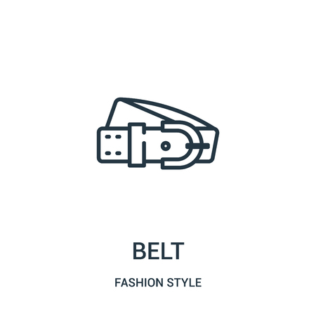 belt icon vector from fashion style collection. Thin line belt outline icon vector illustration. Linear symbol for use on web and mobile apps, logo, print media.