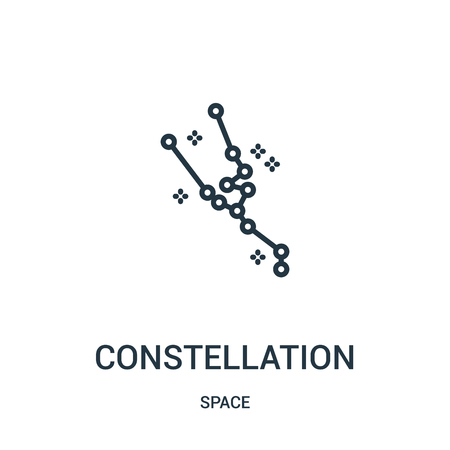 constellation icon vector from space collection. Thin line constellation outline icon vector illustration. Linear symbol for use on web and mobile apps, logo, print media.