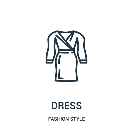 dress icon vector from fashion style collection. Thin line dress outline icon vector illustration. Linear symbol for use on web and mobile apps, logo, print media. 向量圖像
