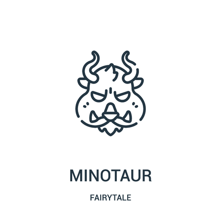 minotaur icon vector from fairytale collection. Thin line minotaur outline icon vector illustration. Linear symbol for use on web and mobile apps, logo, print media.