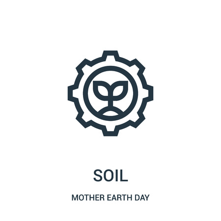 soil icon vector from mother earth day collection. Thin line soil outline icon vector illustration. Linear symbol for use on web and mobile apps, logo, print media. Illustration