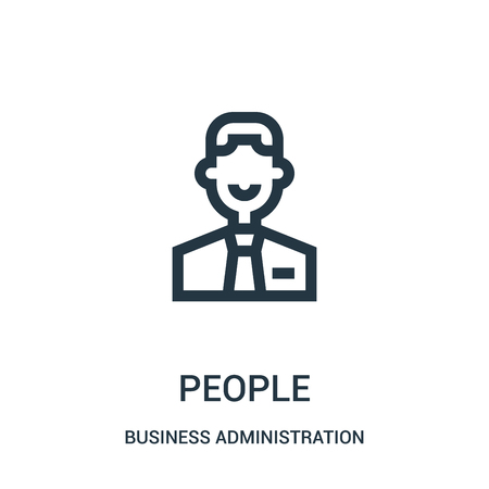 people icon vector from business administration collection. Thin line people outline icon vector illustration. Linear symbol for use on web and mobile apps, logo, print media.