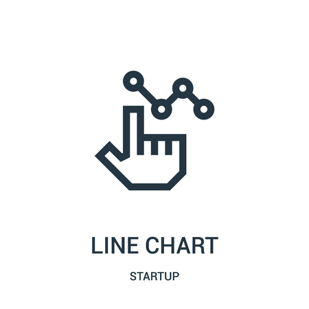 line chart icon vector from startup collection. Thin line line chart outline icon vector illustration. Linear symbol for use on web and mobile apps, logo, print media.