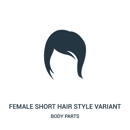 female short hair style variant icon vector from body parts collection. Thin line female short hair style variant outline icon vector illustration. Linear symbol for use on web and mobile apps, logo,