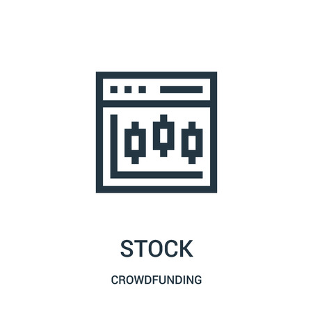 stock icon vector from crowdfunding collection. Thin line stock outline icon vector illustration. Linear symbol for use on web and mobile apps, logo, print media.