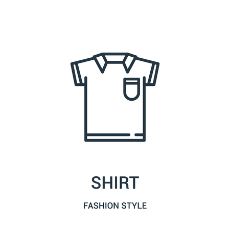 shirt icon vector from fashion style collection. Thin line shirt outline icon vector illustration. Linear symbol for use on web and mobile apps, logo, print media. Ilustração