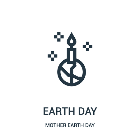 earth day icon vector from mother earth day collection. Thin line earth day outline icon vector illustration. Linear symbol for use on web and mobile apps, logo, print media.