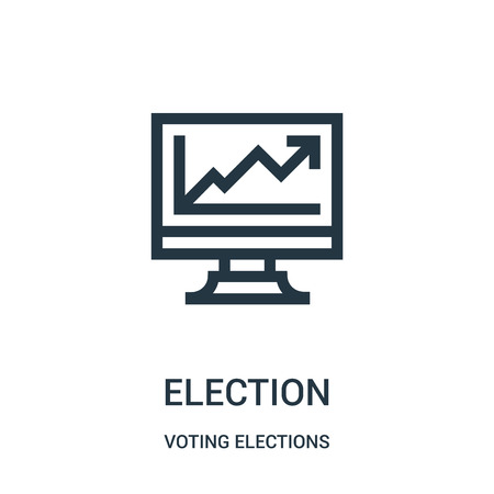 election icon vector from voting elections collection. Thin line election outline icon vector illustration. Linear symbol for use on web and mobile apps, logo, print media.