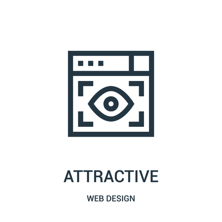 attractive icon vector from web design collection. Thin line attractive outline icon vector illustration. Linear symbol for use on web and mobile apps, logo, print media.