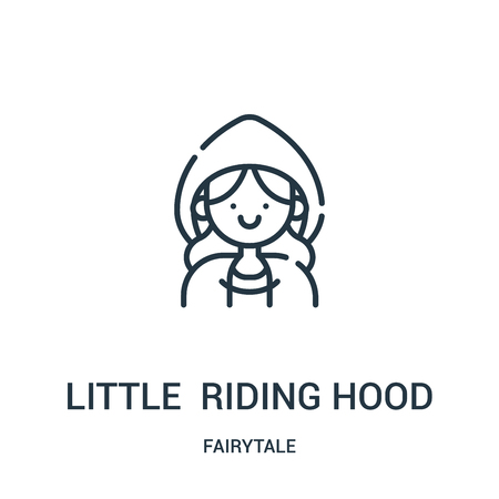 little red riding hood icon vector from fairytale collection. Thin line little red riding hood outline icon vector illustration. Linear symbol for use on web and mobile apps, logo, print media.