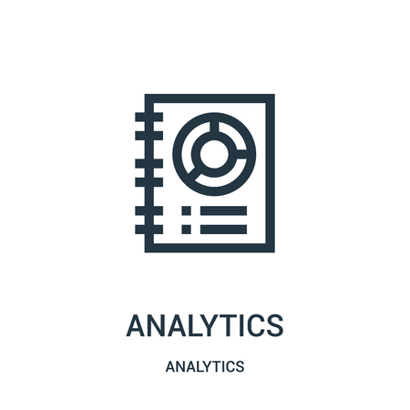 analytics icon vector from analytics collection. Thin line analytics outline icon vector illustration. Linear symbol for use on web and mobile apps, logo, print media.