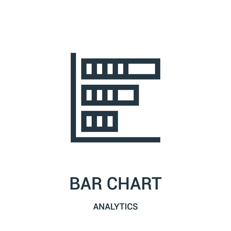 bar chart icon vector from analytics collection. Thin line bar chart outline icon vector illustration. Linear symbol for use on web and mobile apps, logo, print media.
