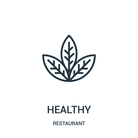 healthy icon vector from restaurant collection. Thin line healthy outline icon vector illustration. Linear symbol for use on web and mobile apps, logo, print media.