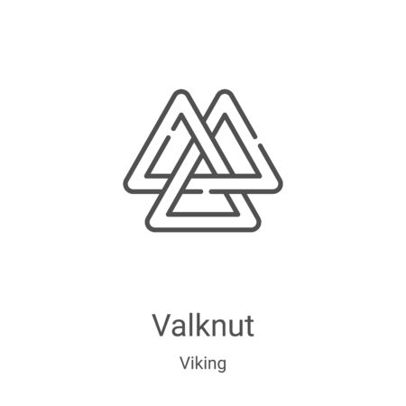 valknut icon vector from viking collection. Thin line valknut outline icon vector illustration. Linear symbol for use on web and mobile apps, logo, print media