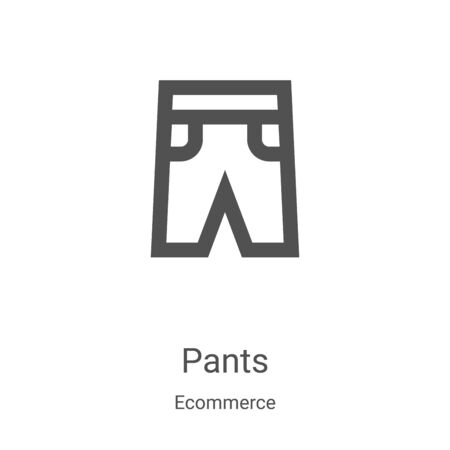 pants icon vector from ecommerce collection. Thin line pants outline icon vector illustration. Linear symbol for use on web and mobile apps, logo, print media