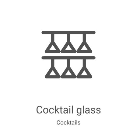 cocktail glass icon vector from cocktails collection. Thin line cocktail glass outline icon vector illustration. Linear symbol for use on web and mobile apps, logo, print media