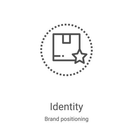 identity icon vector from brand positioning collection. Thin line identity outline icon vector illustration. Linear symbol for use on web and mobile apps, logo, print media