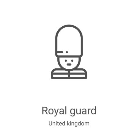 royal guard icon vector from united kingdom collection. Thin line royal guard outline icon vector illustration. Linear symbol for use on web and mobile apps, logo, print media Illustration
