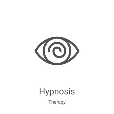 hypnosis icon vector from therapy collection. Thin line hypnosis outline icon vector illustration. Linear symbol for use on web and mobile apps, logo, print media Ilustrace