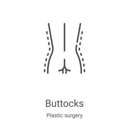 vecteur d'icône de la collection de chirurgie plastique. Illustration vectorielle de fine ligne contour icône. Symbole linéaire à utiliser sur les applications Web et mobiles, le logo, les médias imprimés