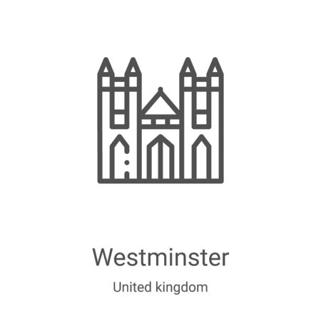 westminster icon vector from united kingdom collection. Thin line westminster outline icon vector illustration. Linear symbol for use on web and mobile apps, logo, print media 向量圖像