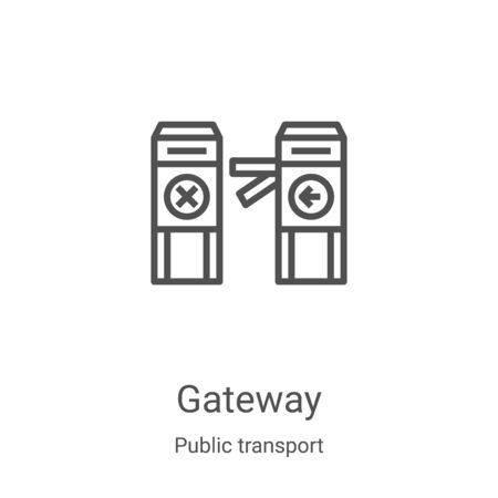 gateway icon vector from public transport collection. Thin line gateway outline icon vector illustration. Linear symbol for use on web and mobile apps, logo, print media