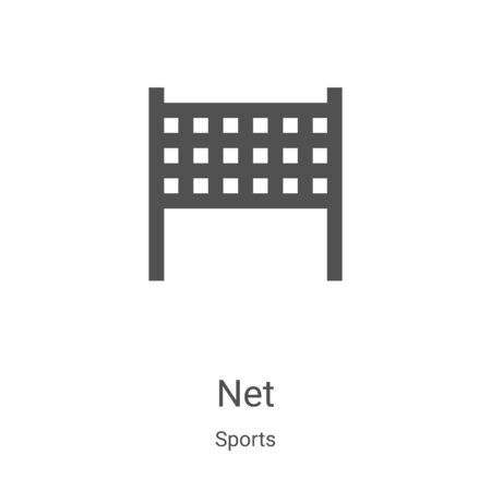 net icon vector from sports collection. Thin line net outline icon vector illustration. Linear symbol for use on web and mobile apps, logo, print media