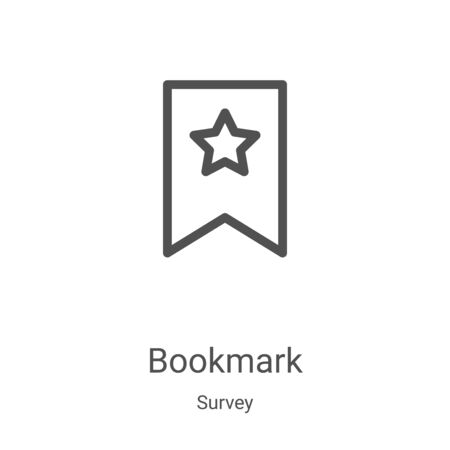 bookmark icon vector from survey collection. Thin line bookmark outline icon vector illustration. Linear symbol for use on web and mobile apps, logo, print media