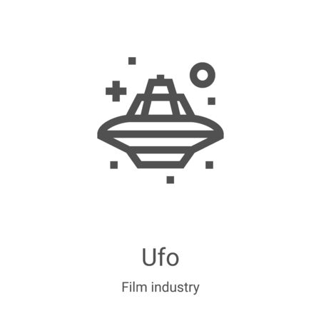 ufo icon vector from film industry collection. Thin line ufo outline icon vector illustration. Linear symbol for use on web and mobile apps, logo, print media