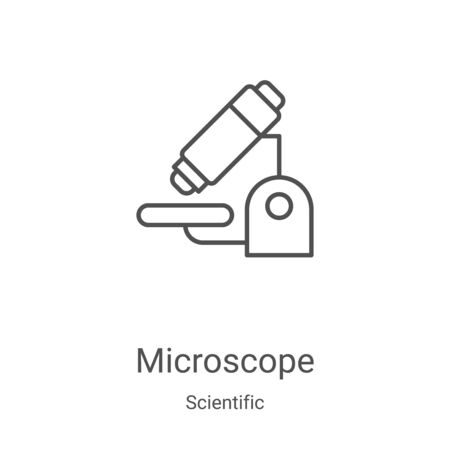 microscope icon vector from scientific collection. Thin line microscope outline icon vector illustration. Linear symbol for use on web and mobile apps, logo, print media Stock Illustratie