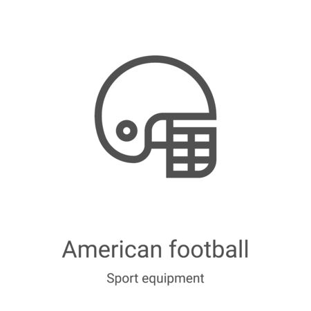 american football icon vector from sport equipment collection. Thin line american football outline icon vector illustration. Linear symbol for use on web and mobile apps, logo, print media Illustration