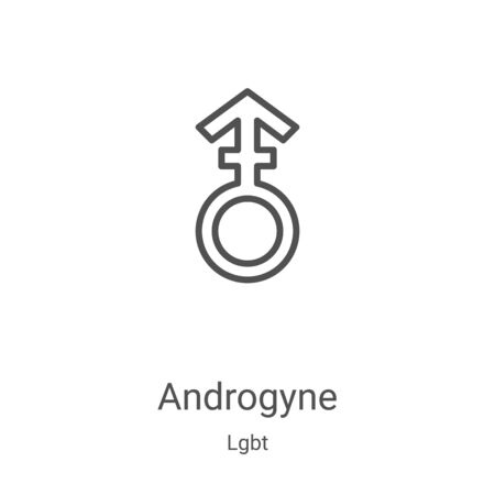 androgyne icon vector from collection. Thin line androgyne outline icon vector illustration. Linear symbol for use on web and mobile apps, logo, print media