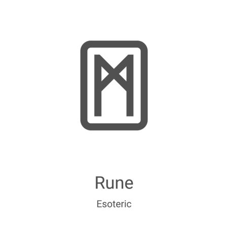 rune icon vector from esoteric collection. Thin line rune outline icon vector illustration. Linear symbol for use on web and mobile apps, logo, print media