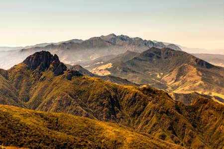 Mountain landscape from mountain summit
