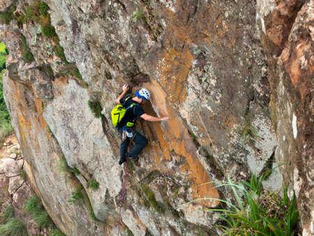 Rock climber in Cuscuzeiro sandstone rock