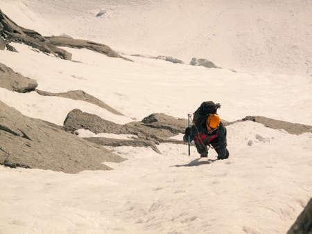 Ice climber - mountaineering