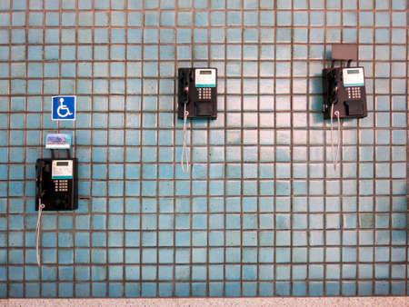 Public telephones on de janeiro airport - access