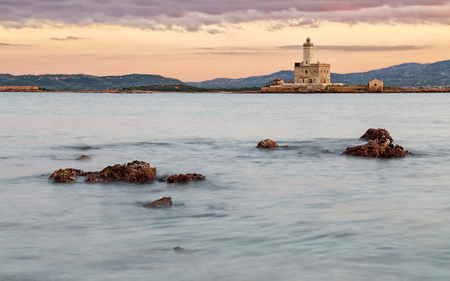 A view of lighthouse in Olbia gulf